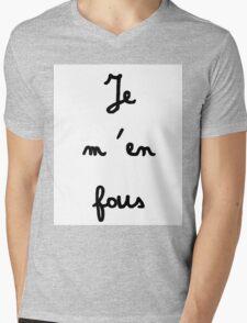Je m'en fous - I don't care Mens V-Neck T-Shirt