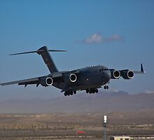 C-17 Globemaster III landing during 2009 Aviation Nation by Henry Plumley