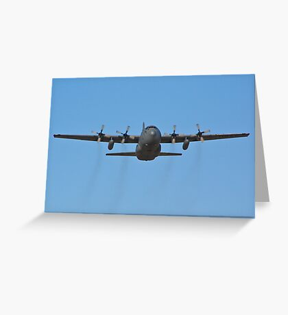 C-130 Hercules leaving Nellis Air Force Base Greeting Card