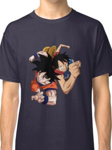one piece dragon ball z goku luffy crossover anime manga shirt Classic T-Shirt