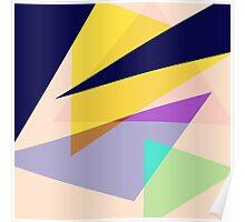 Contemporary Geometric Triangles 2 Poster