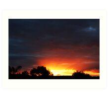A Frankland River Sunset Art Print