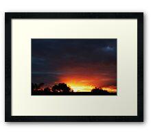 A Frankland River Sunset Framed Print