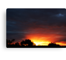 A Frankland River Sunset Canvas Print