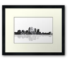 Louisville, Kentucky Skyline - Black and White Framed Print