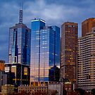 Melbourne Skyline by Peter Evans