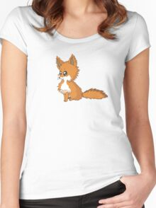 Fox Cub Women's Fitted Scoop T-Shirt