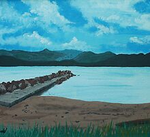Angry Beach Painted by Mistina Whitlock