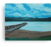 Angry Beach Painted Canvas Print