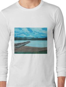 Angry Beach Painted Long Sleeve T-Shirt