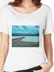 Angry Beach Painted Women's Relaxed Fit T-Shirt