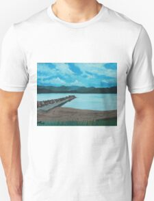 Angry Beach Painted T-Shirt