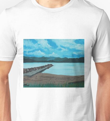 Angry Beach Painted Unisex T-Shirt