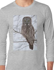 A ghostly gaze of the future Long Sleeve T-Shirt