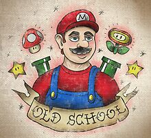 Old School Mario Tattoo by 84Nerd