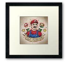 Old School Mario Tattoo Framed Print