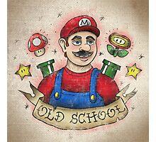 Old School Mario Tattoo Photographic Print