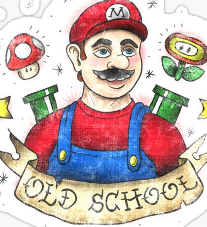 Old School Mario Tattoo Sticker
