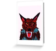VICIOUS WEREWOLF Greeting Card