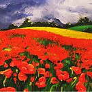 Poppies before the Storm by Barbora  Urbankova