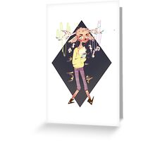 fresh deer kid gamer Greeting Card