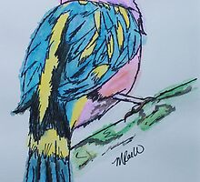 Bird in colour by Mistina Whitlock