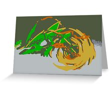"""Minimalistic Pokemon - Mega Rayquaza "" by limitedskins.com Greeting Card"