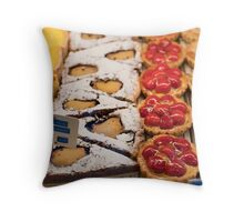 French pastries & cakes in Paris Throw Pillow