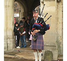 Busking Bagpipes Photographic Print