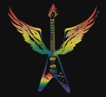 Flying V Guitar (Rainbow) by designgroupies