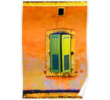 Green Shutters - Provence Poster