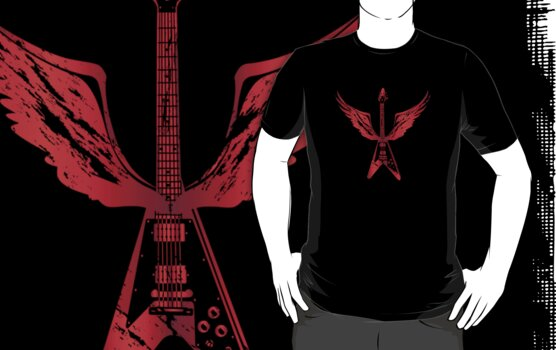 Flying V Guitar (Red) by designgroupies