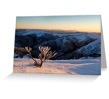 Sunset on the mountainside Greeting Card