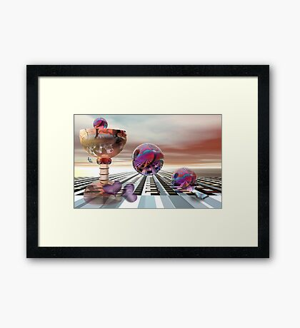A drink for two Framed Print