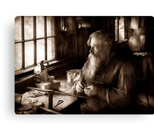 Trade - Tin Smith - Making toys for Children - BW Canvas Print
