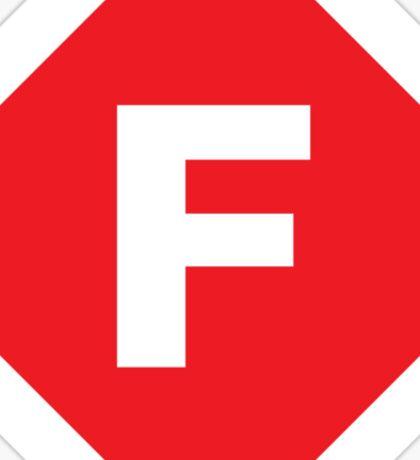 F-Stop Sticker