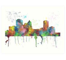Montgomery Alabama Skyline  Art Print
