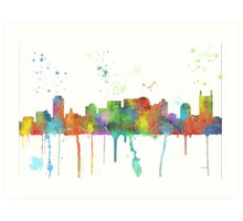 Nashville, Tennessee Skyline Art Print