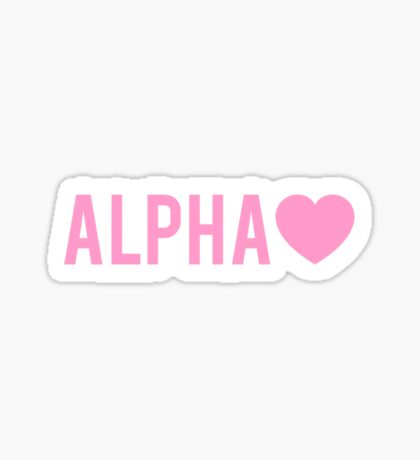 Alpha Love  Sticker
