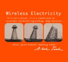 Nikola Tesla - Wireless Electricity Kids Clothes
