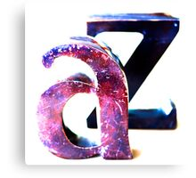 A to Z Canvas Print