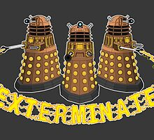 Daleks Exterminate (Yellow) by BovaArt