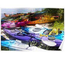 Kayaks on Hay Poster