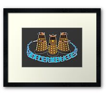 Robot Invasion Framed Print