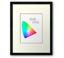 CIE1931 Framed Print