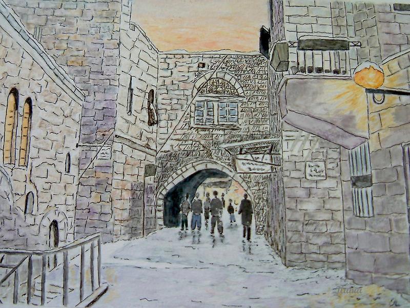 Old City Jerusalem by Ilunia Felczer