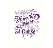 Horrible Night to have a Curse Pastel Art Print