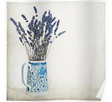 Lavender in Blue and White Jug Poster