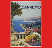 Vintage San Remo Travel Poster Kids Clothes
