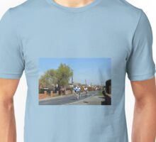 Cyclists in a Country Lane Unisex T-Shirt